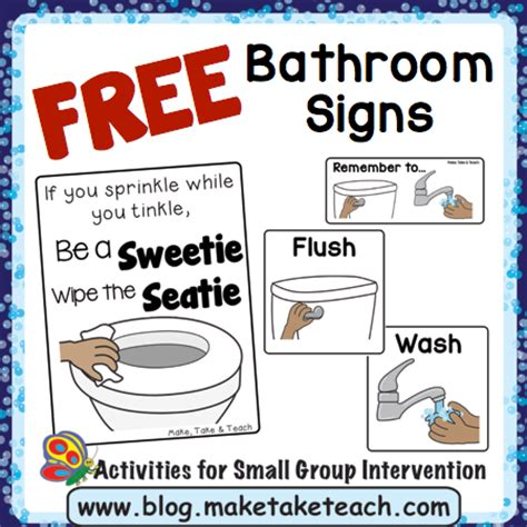free bathroom visuals make take teach