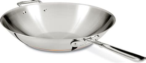 clad  ss copper core  ply bonded dishwasher safe fry pancookware   silver