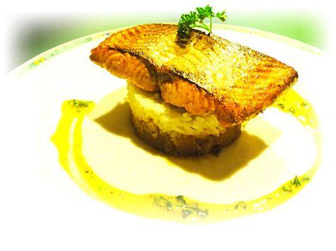 recette de cuisine gastronomique facile pavé de saumon au riz basmati brumoise de légumes façon