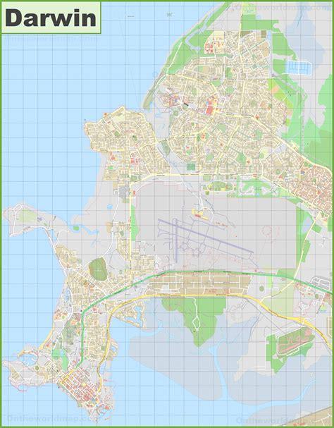 large detailed map  darwin
