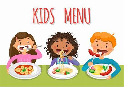 Cafeteria Lunch Clip Healthy Vector Childrens Illustrations