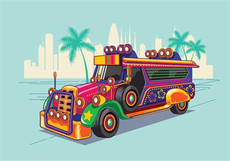 philippine jeep clipart philippine jeep vector illustration or jeepney download