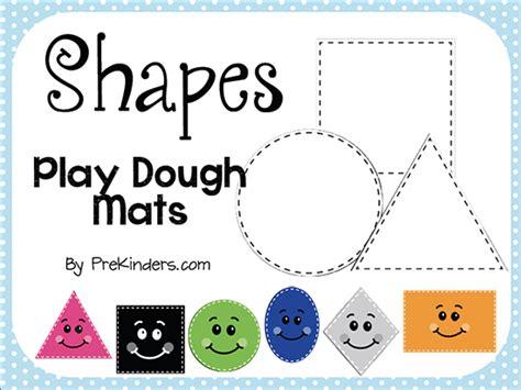 square plate sets shape play dough mats prekinders