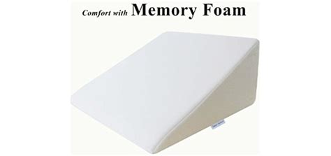 intevision foam wedge bed pillow best wedge pillow for knee back relief