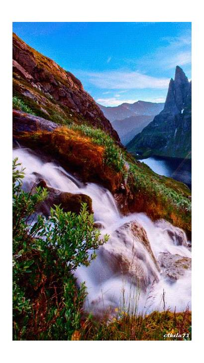 Nature Gifs Amazing Waterfalls Places Fall Landscapes