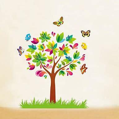 createforlife 174 papillons de bande dessin 233 e arbres enfants autocollant de pi 232 ce de cr 232 che mur
