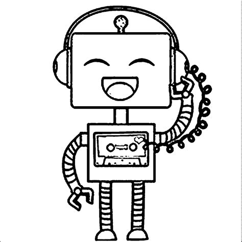 cute robot coloring pages robot coloring pages color