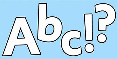 Lettering Display Blank Alphabet Letter Template Classroom