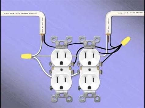 gang receptacles double electrical outlet