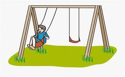 Playground Cartoon Clipart Swing Transparent Clip Graphic