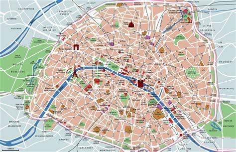 paris map  top sights shops hotels paris map