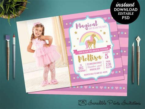 5th birthday invitation card template 100 best birthday invitations images on