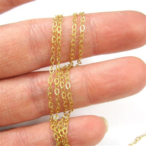 gold plated sterling silver chain unfinished