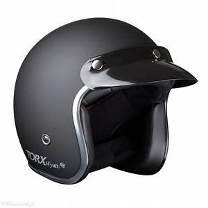 Casque De Moto : casque torx wyatt matt black jet biker moto vintage noir mat ~ Medecine-chirurgie-esthetiques.com Avis de Voitures