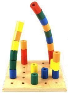 stacking wooden peg board toy wooden pegs wooden toys toys