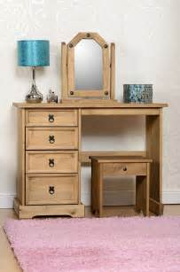 Dressing Table With Mirror And Stool by Corona Wooden Dressing Table Set With Stool And Mirror