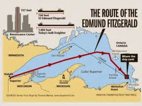 41 years ago edmund fitzgerald sank in lake superior