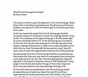 Binge Drinking Essay My Friends Essay Underage Drinking Essay Ideas  Binge Drinking Essay Outline Template Need Somebody Write My Paper A Level English Essay also English Class Reflection Essay  Importance Of English Language Essay