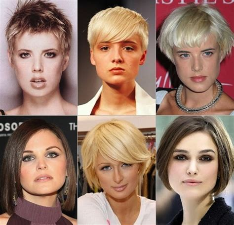 short hairstyles for face types hair