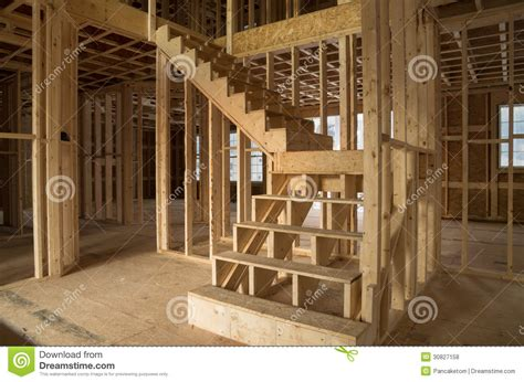 house construction interior stock photo image