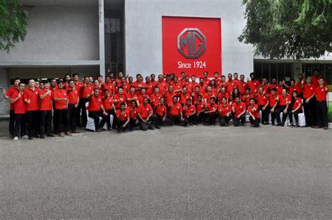 mg motor inaugurates  plant  india autocar india