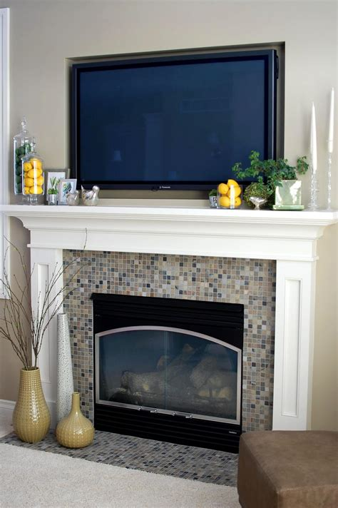 decorating fireplace mantel with tv above remodelaholic beautiful inspired mantle by 33