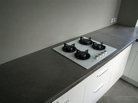 beton ciré cuisine plan travail plans de travail béton ciré entreprise les ateliers de vérone