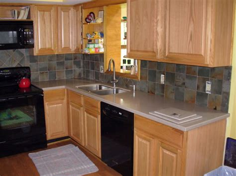 Slate Backsplash Ideas For The Kitchen : Rough Stone Backsplash, Slate Tile Kitchen Backsplash