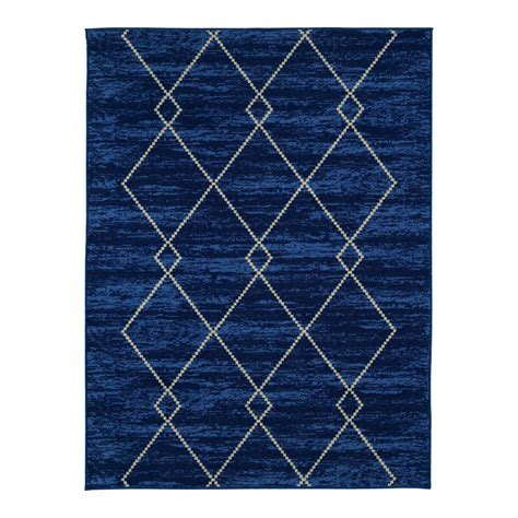 blue trellis rug ottomanson studio collection trellis design blue 5