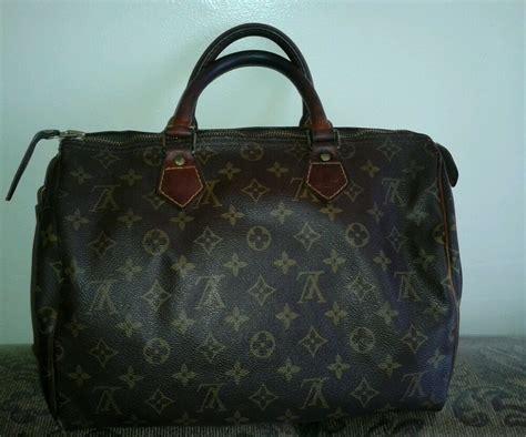 vtg authentic louis vuitton speedy  monogram handbag