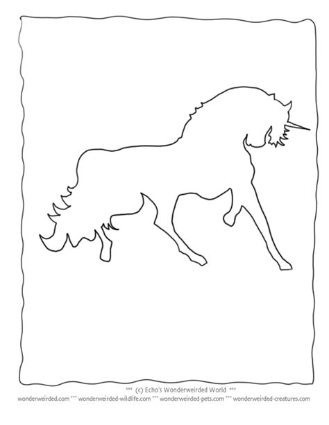 unicorn outline clipartioncom