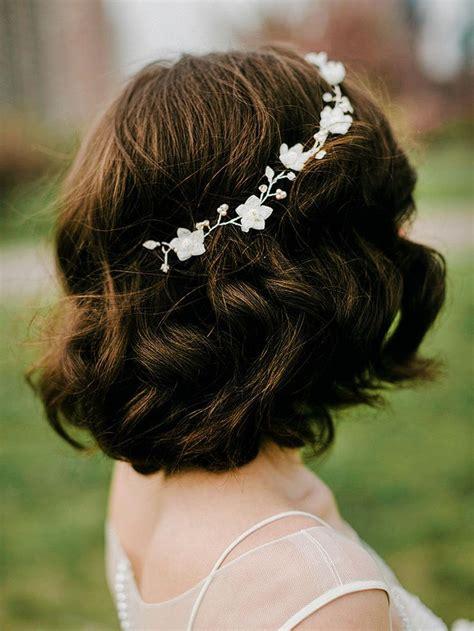 stunning wedding hairstyles  short hair short