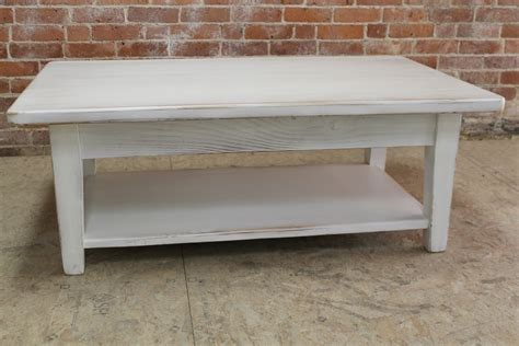 White Reclaimed Wood Coffee Table