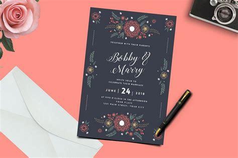50 Wonderful Wedding Invitation And Card Design Samples
