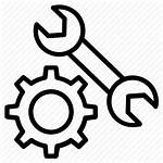 Tools Hand Icon Garage Drawing Wrench Wheel
