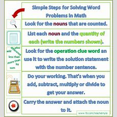 Nyla's Crafty Teaching Simple Steps For Solving Word Problems In Math