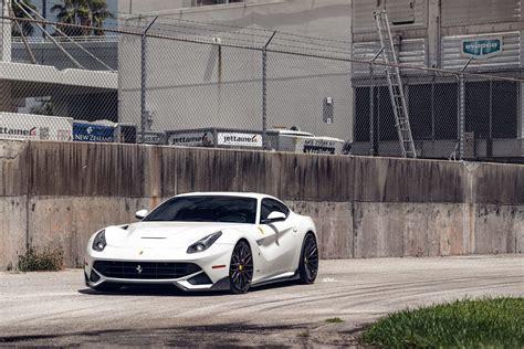 New cars ferrari f12 berlinetta wallpaper. Bianco Avus Ferrari F12 Berlinetta - ADV10.0 M.V2 SL - ADV.1 Wheels