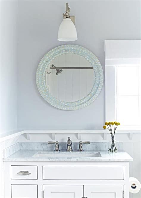 Coastal Bathroom Mirrors by Fresh Coastal Bathroom In Gray And White Hgtv