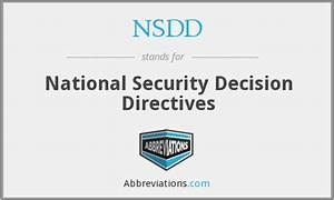 NSDD - National Security Decision Directives