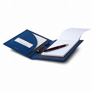 leather a6 document holder with paper pad With paper document holder