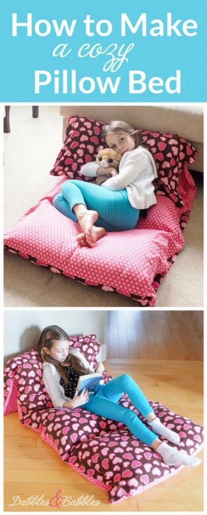 how to make a pillow sewing projects for the home cozy pillow bed free diy