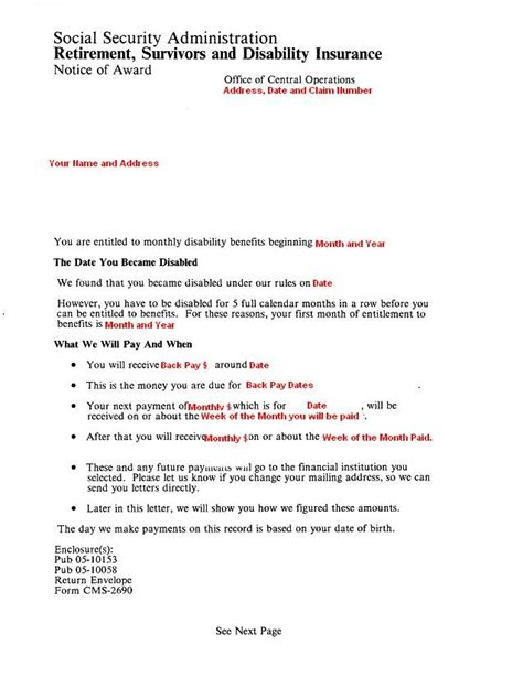 social security award letter ssi disability award letter inspirational social security