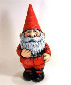 ceramic santa claus gnome 14 inches hand painted christmas