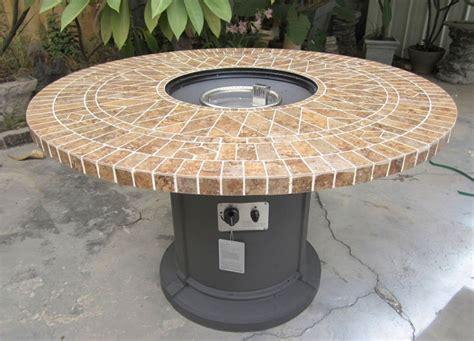 porcelain mosaic tile outdoor table pit