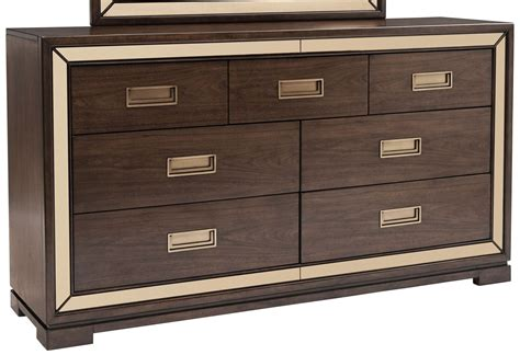 Cognac Dresser by Chrystelle Cognac 7 Drawer Dresser From Pulaski Coleman
