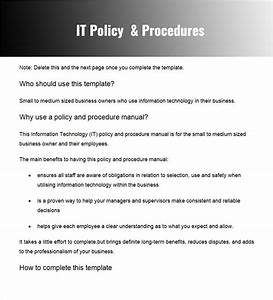 28  Policy And Procedure Templates Free Word  Pdf Download