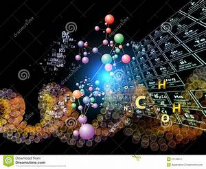 Chemical Elements Abstraction Stock Illustration