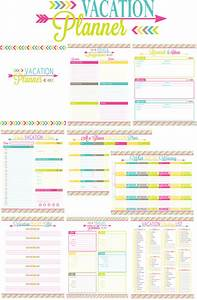 Printable vacation planner and duo binder giveaway for Trip calendar planner template