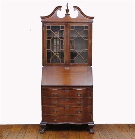unfinished wood secretary desk vintage federal style solid wood secretary desk ebth