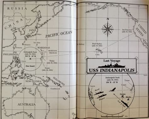 Uss Indianapolis Sinking Map by Left For Dead The Last Voyage Of The Uss Indianapolis Home